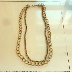 Stella and dot gold necklace
